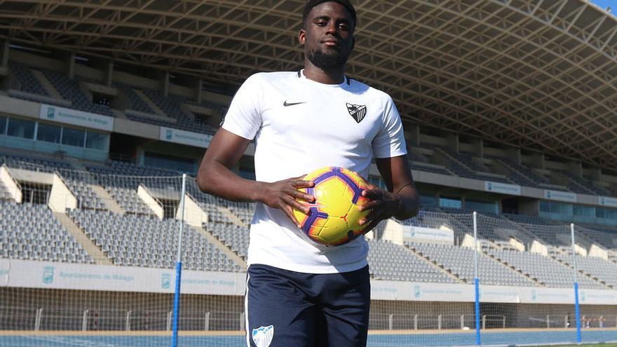 N'Diaye tiene otro año más de cesión en el Málaga CF