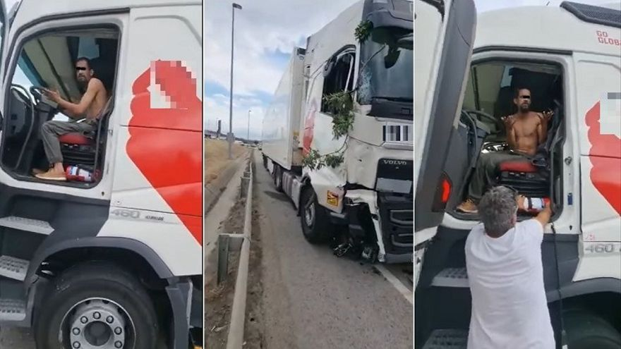 Un camionero borracho mata a otro al atropellarlo tras una discusión de tráfico