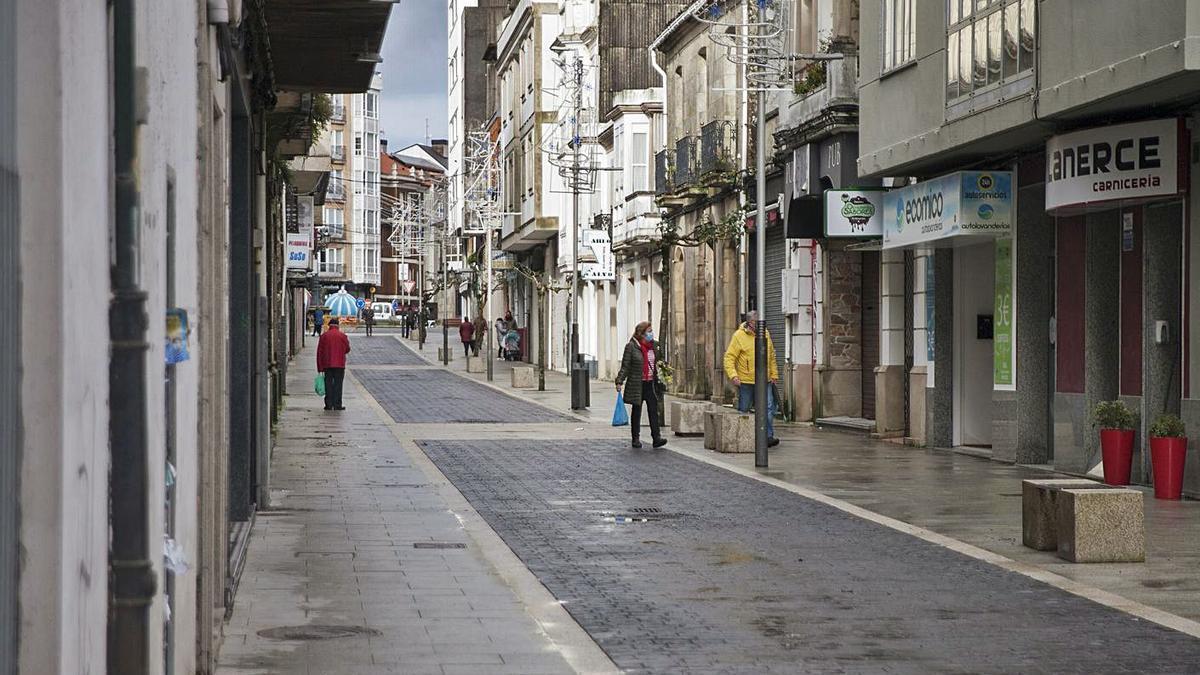 La nueva Serafín Pazo, ahora calle peatonal.     // BERNABÉ/ANA AGRA
