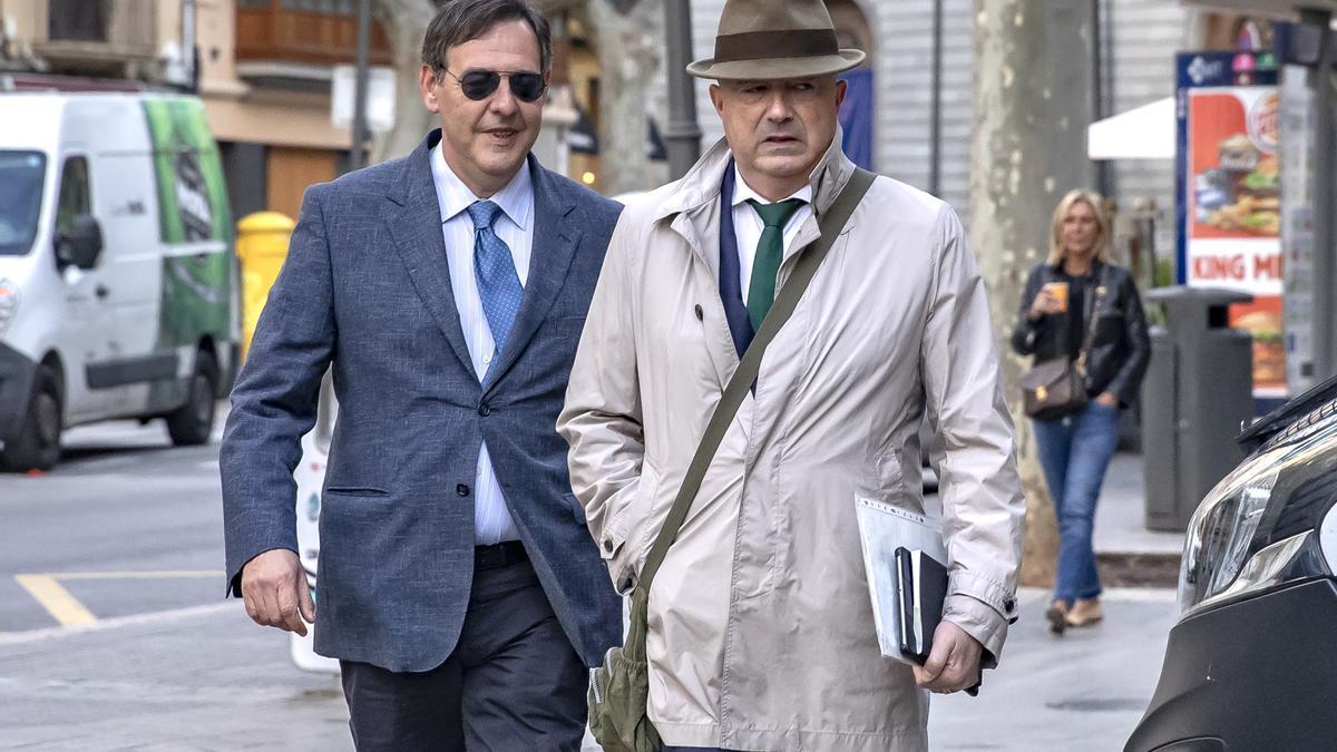 El juez Manuel Penalva, primer instructor del caso Cursach, y el fiscal Anticorrupción Miguel Ángel Subirán