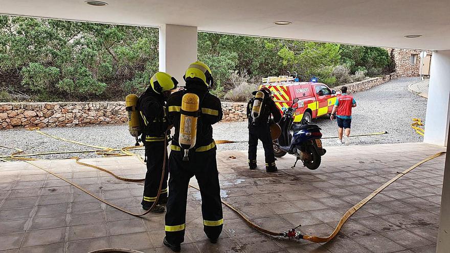 Control del fuego en el Hospital de Formentera