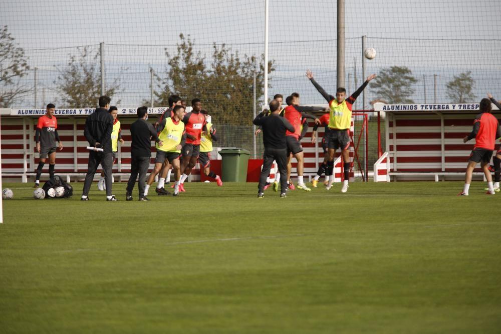 Entrenamiento del Sporting en Mareo.