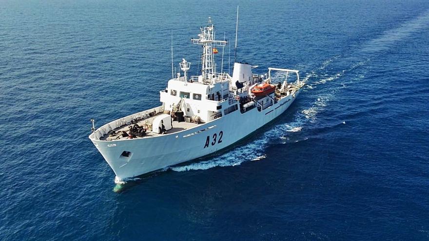 El buque 'Tofiño' realiza una campaña hidrográfica en aguas del Archipiélago Canario