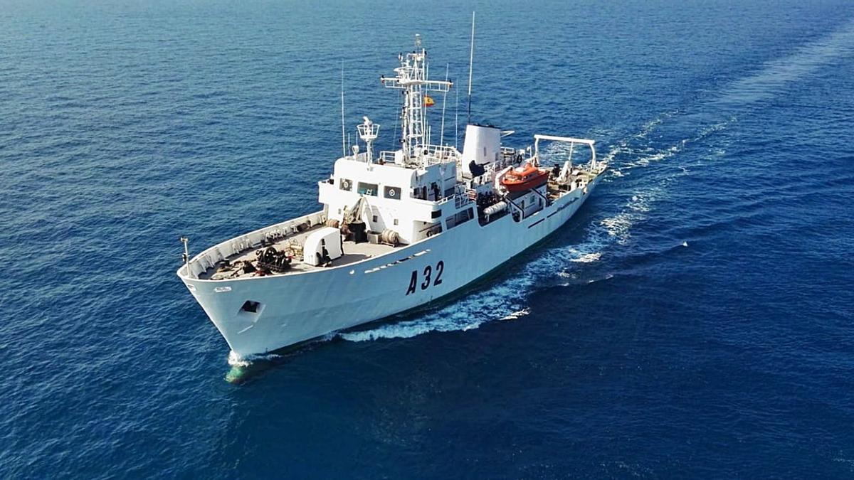 El buque de la Armada 'Tofiño'.