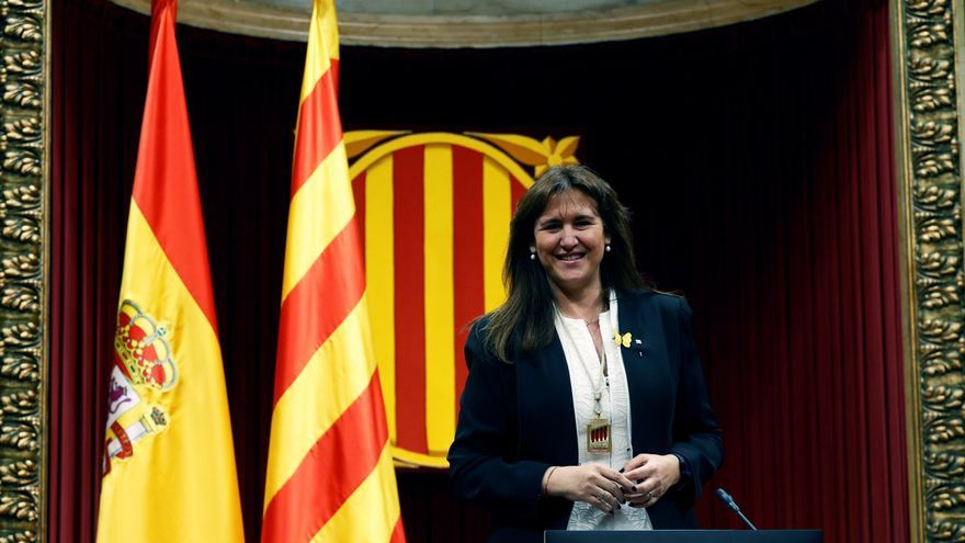 La elección de Borrás como presidenta del Parlament allana la investidura de Aragonés