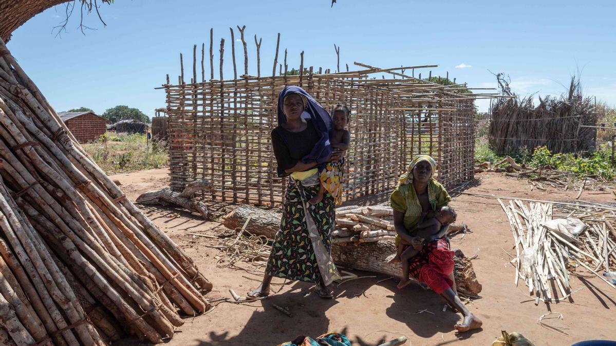 Desplazados por la violencia en Cabo Delgado, Mozambique.