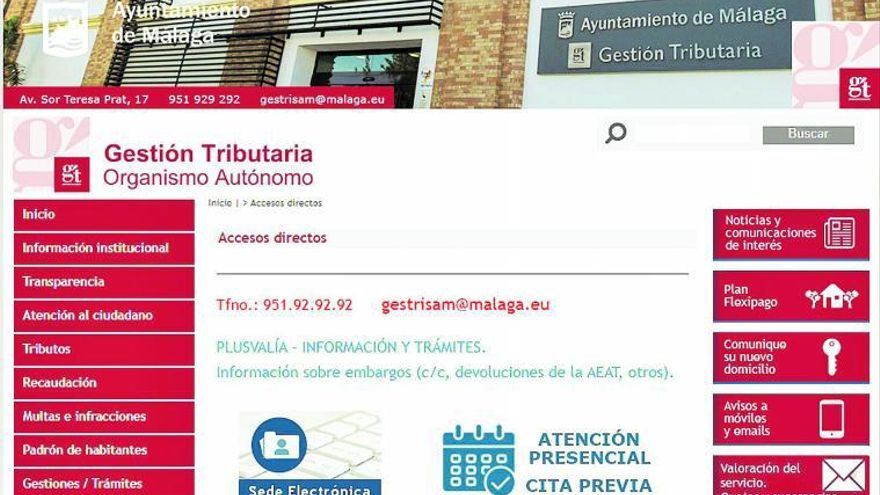 La administración electrónica y la gestion tributaria del Ayuntamiento de Málaga