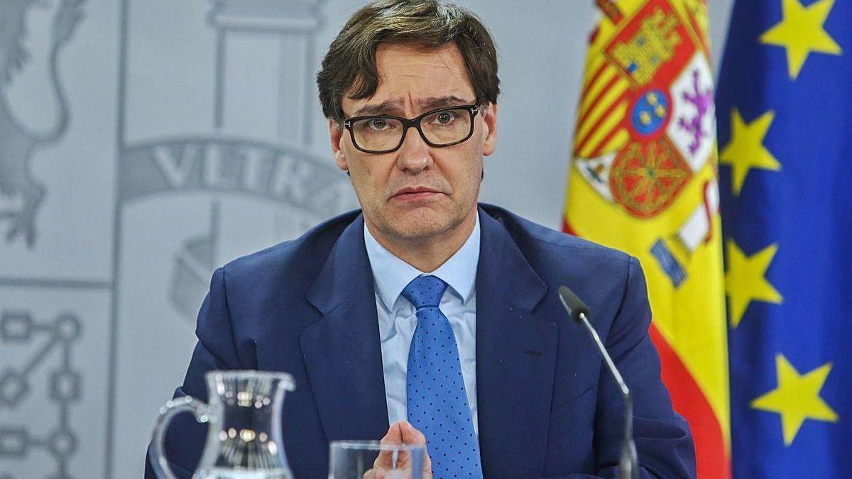 El ministro de Sanidad, Salvador Illa, ayer en Madrid.