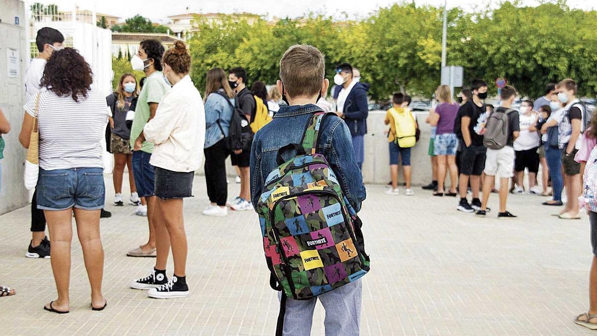 Escolares de Balears en su regreso a las aulas el pasado día 10.