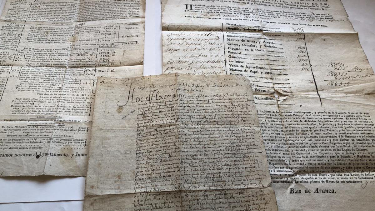 Part dels documents cedits.