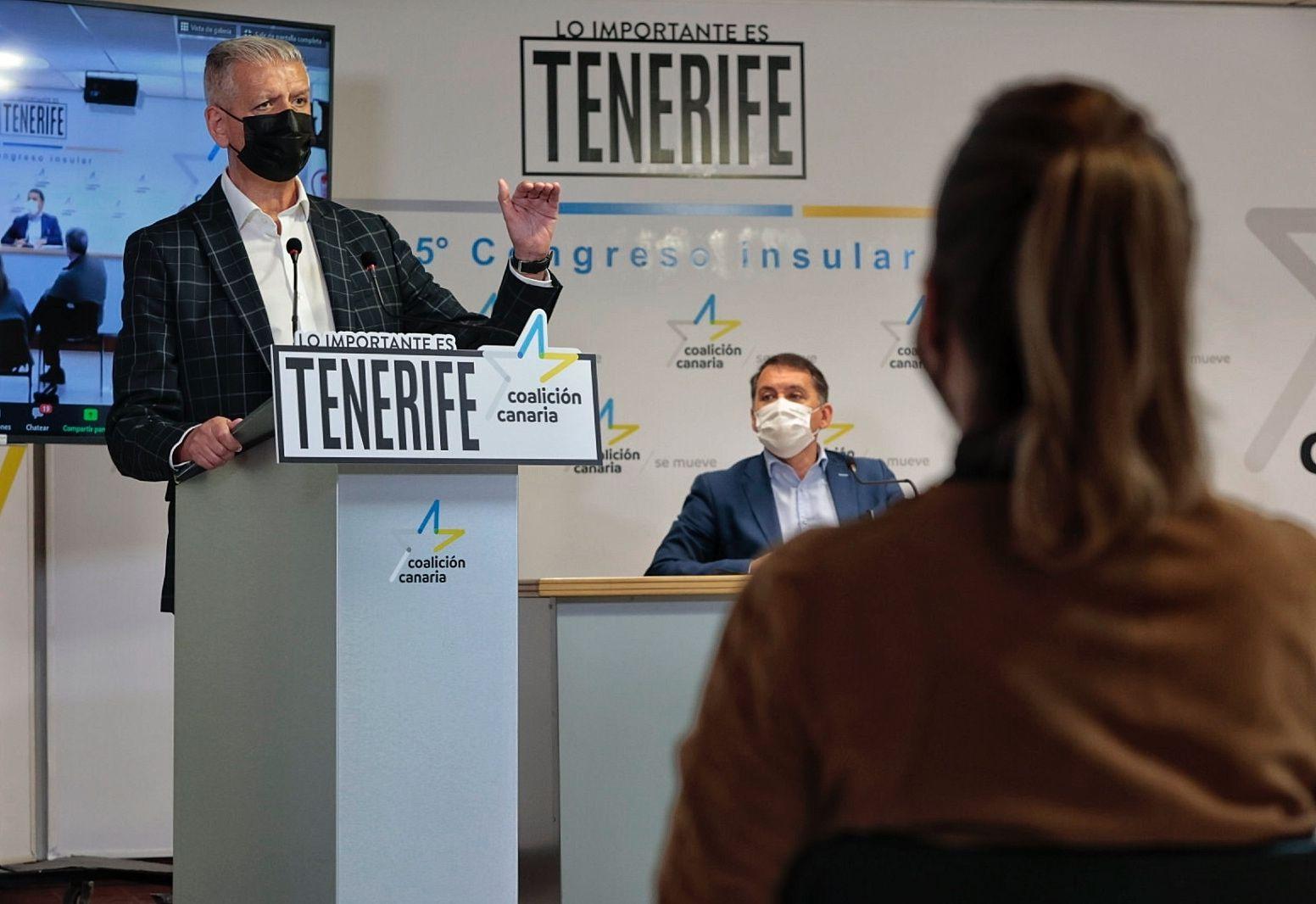 Apertura del congreso de Coalición Canaria en Tenerife