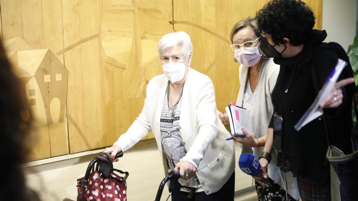 Vacunación de la tercera dosis en la residencia Mixta de Gijón
