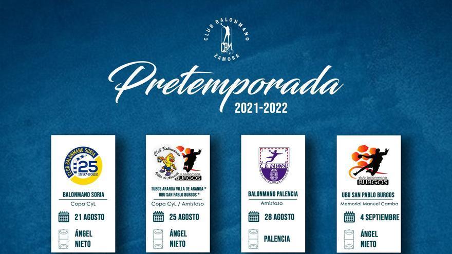 El Balonmano Zamora anuncia siete amistosos para la pretemporada