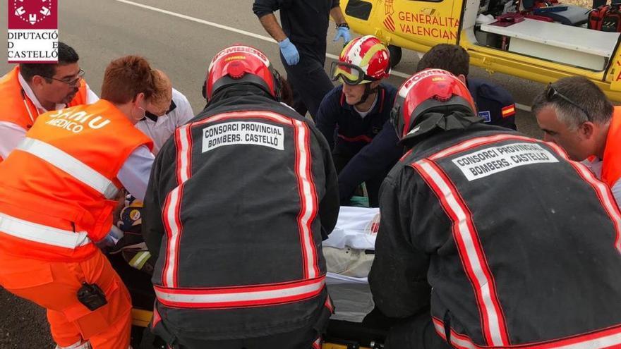 Heridos dos motoristas en Forcall y Vilafranca