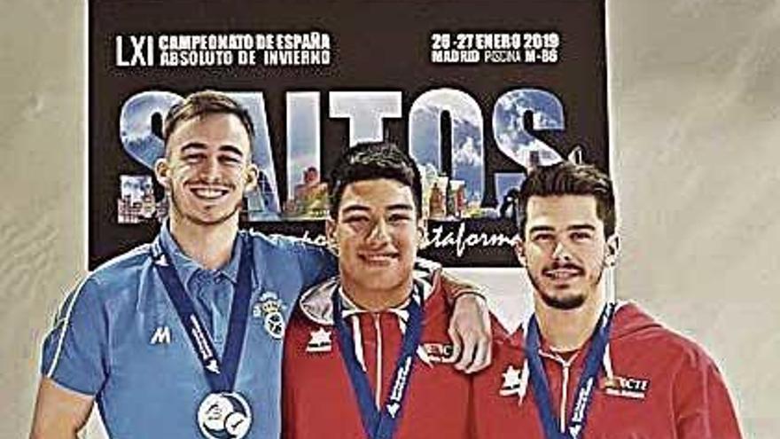 Adrián Abadía gana el oro en el Campeonato de España de saltos