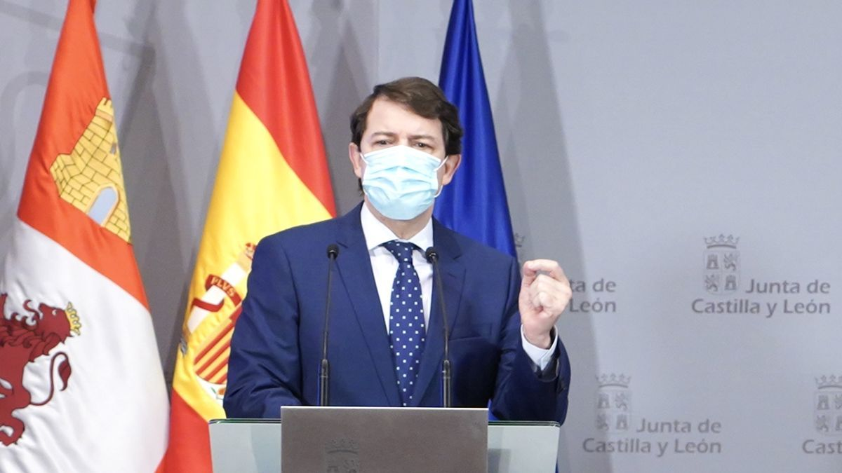 El presidente Mañueco durante una comparecencia pública.