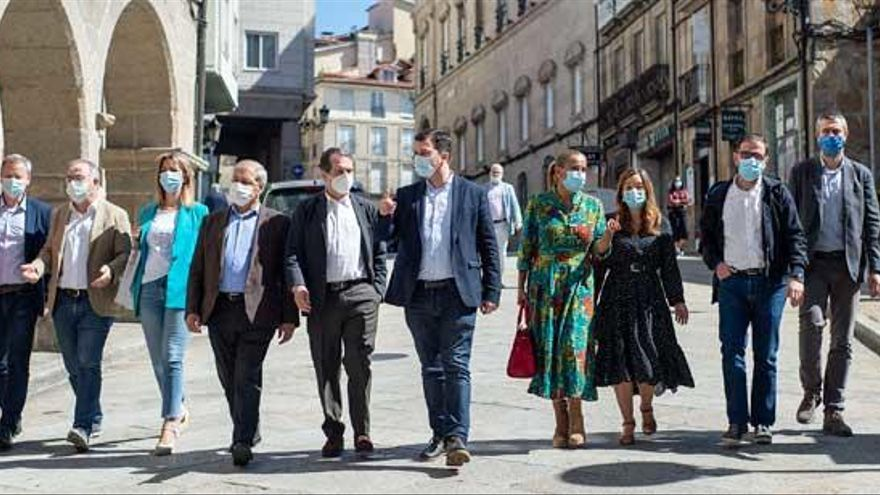 """Caballero apela a construir la Galicia futura """"en sintonía con el poder municipal"""""""