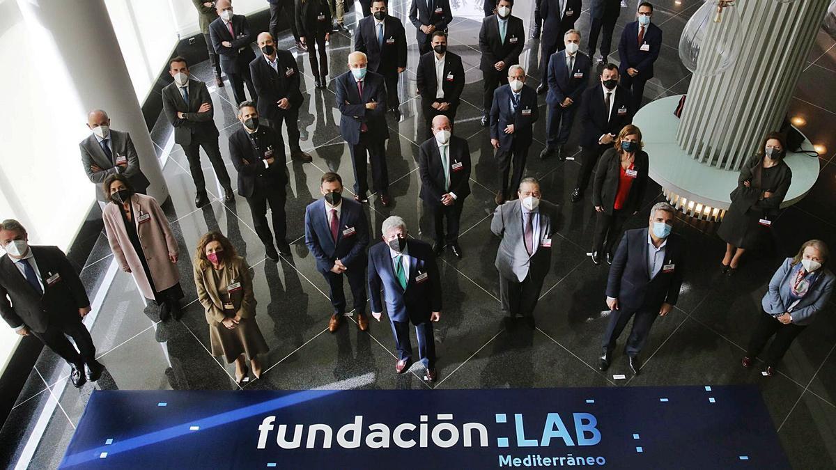 Los patronos de la nueva fundación, ayer en València. | LEVANTE-EMV