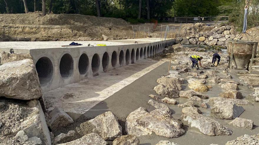 Ontinyent ultima las obras de ampliación de la pasarela del Camí de la Clariana