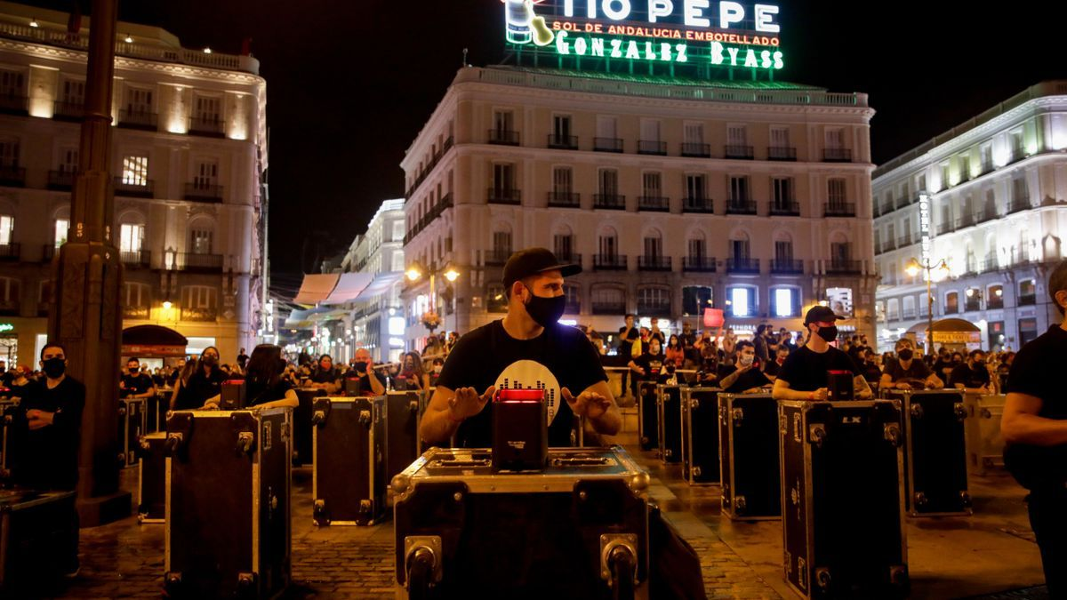 Archive - Demonstration called by the association 'Red Alert Events' in Madrid (Spain), on September 17, 2020.