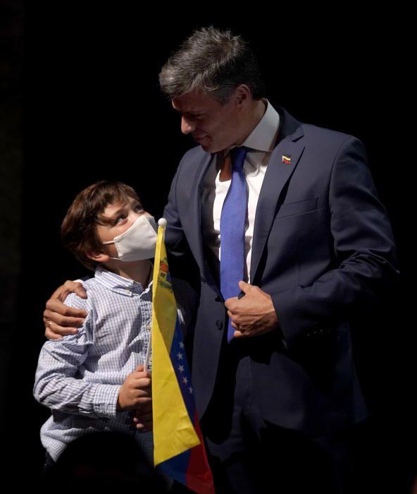 Leopoldo López comparece ante los medios en Madrid