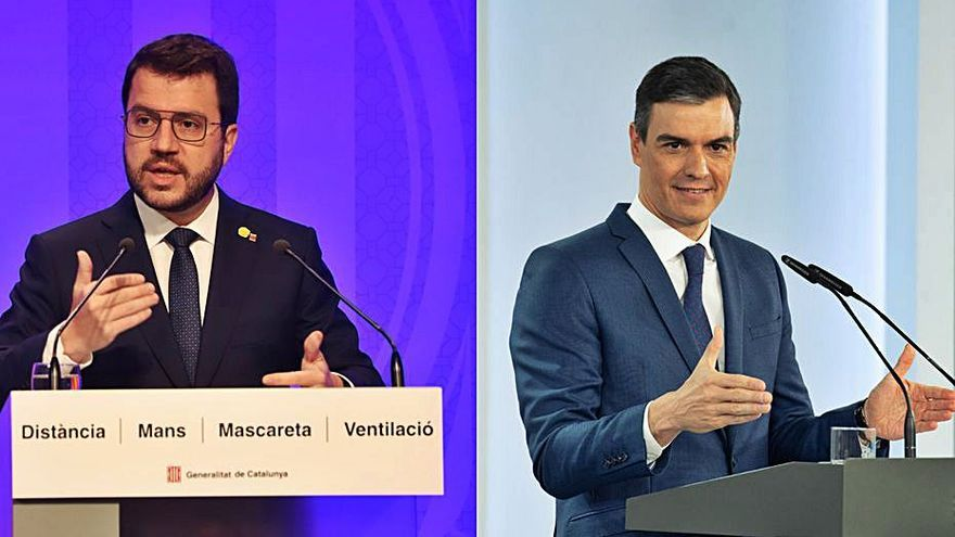 Sánchez i Aragonès acorden que es reuniran aquest mes a la Moncloa