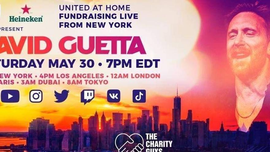Guetta recauda fondos contra el virus con una actuación desde Nueva York
