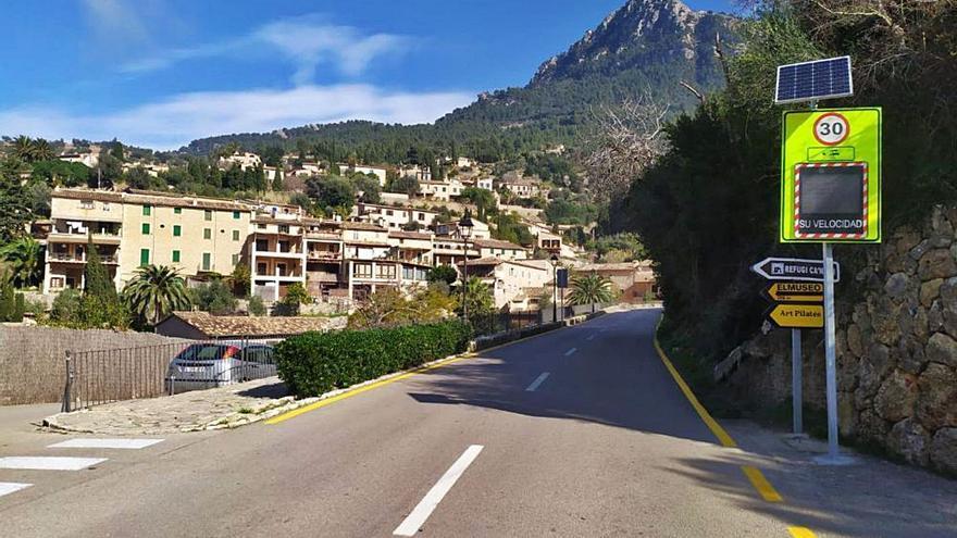 El límite de velocidad se reduce a 30 kilómetros por hora en la carretera de Deià
