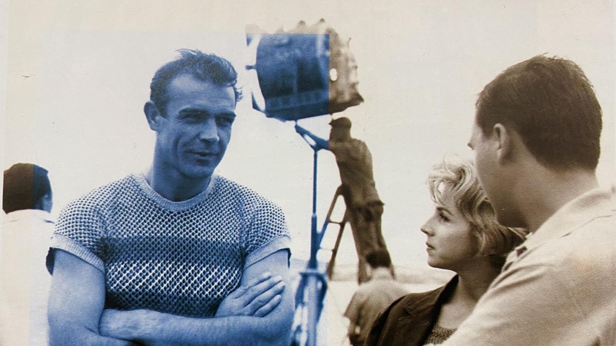 Sean Connery en Mallorca en 1963, con Margaluz a la derecha de la imagen