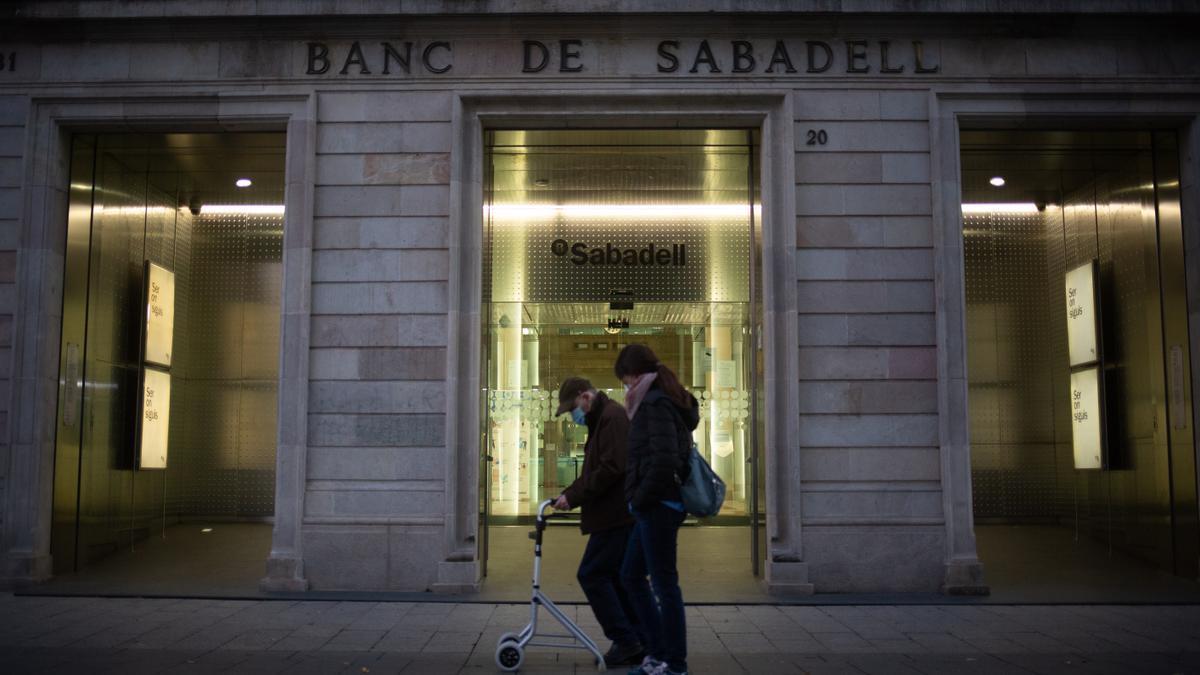 Una oficina del Banco Sabadell.