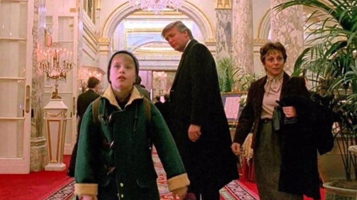 Fotograma en el que aparece Trump en el filme.