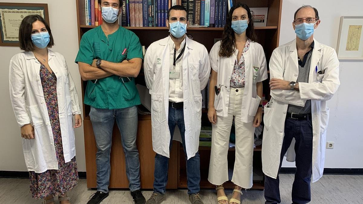 Equipo de investigadores del Ibima y del Hospital Regional.