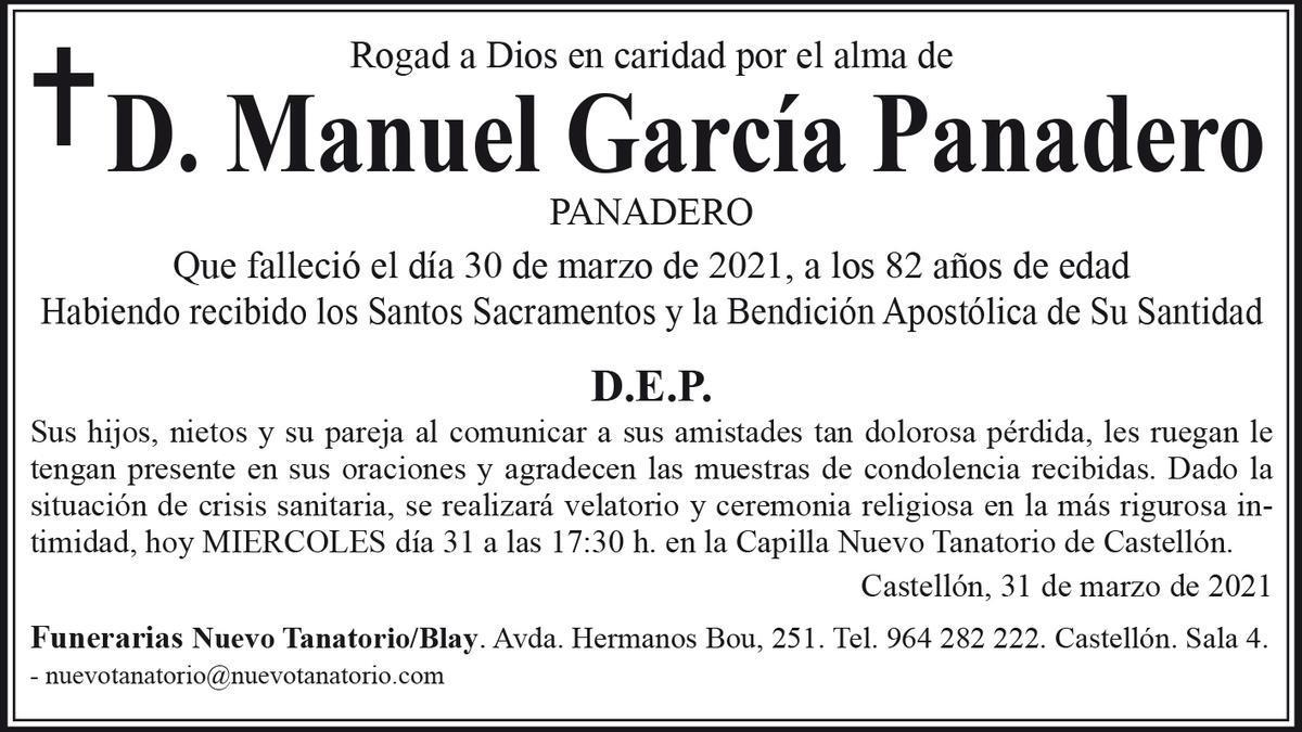 D. Manuel García Panadero