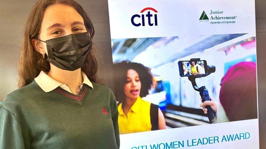Sofía Fernández, del colegio Peñamayor, opta a un premio de liderazgo