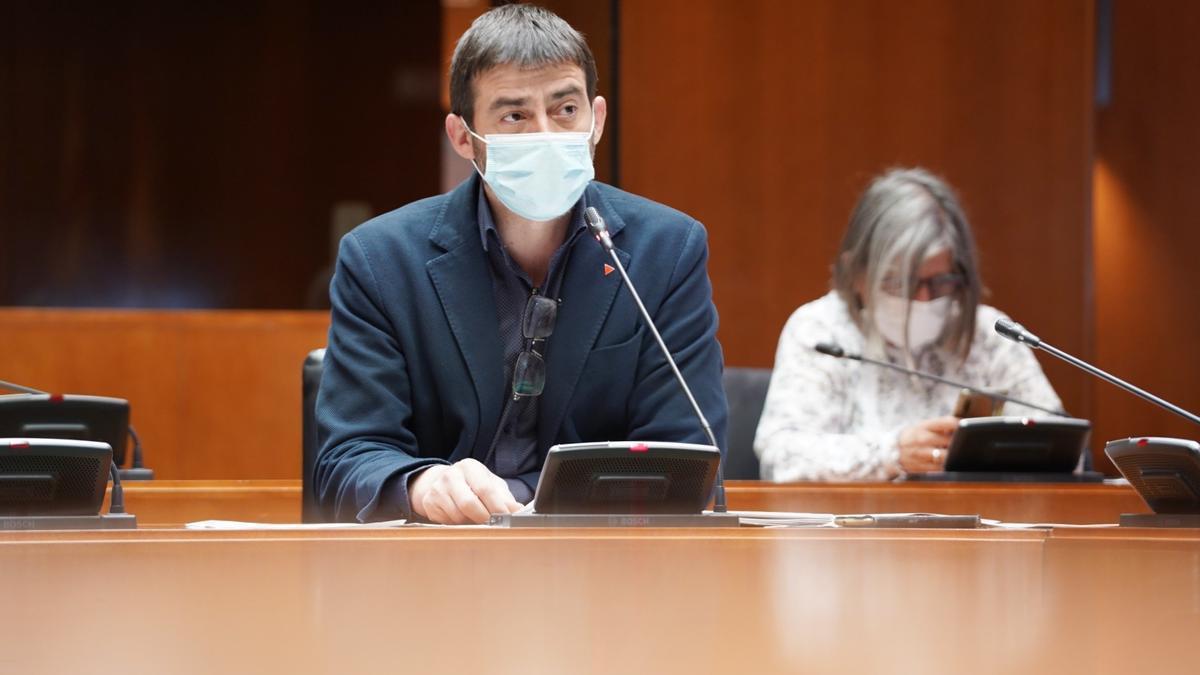 El diputado de IU, Álvaro Sanz.