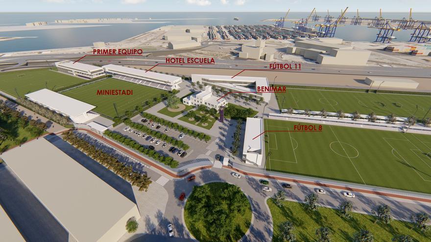 El Consell Jurídic avala el plan de la Ciudad Deportiva del Levante en Natzaret