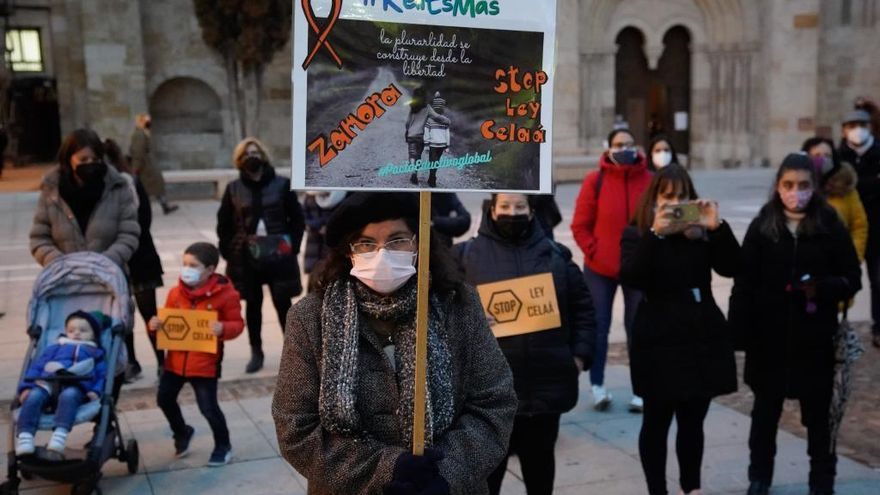 Zamora se une a la manifestación contra la ley Celaá en coche