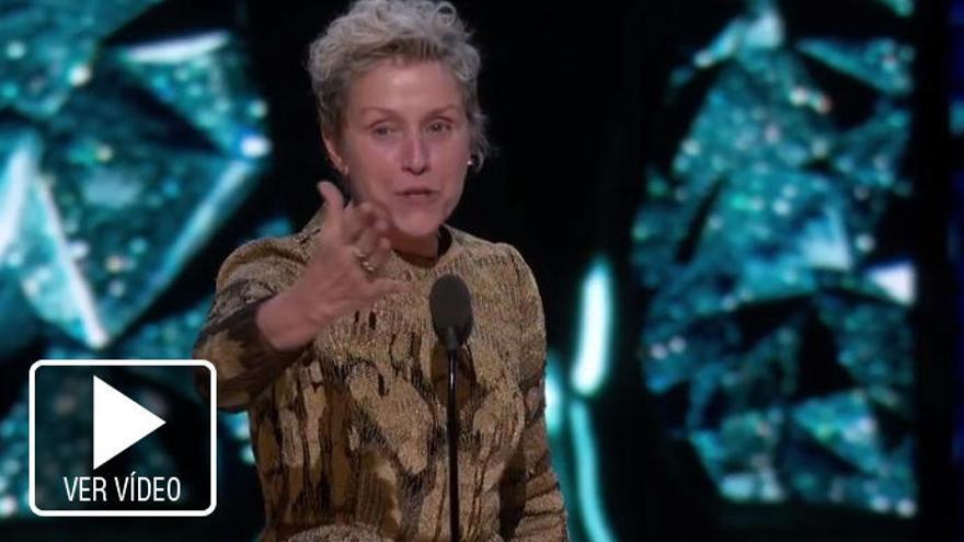 ¿Quién es Frances McDormand, la actriz a quien la murciana emuló en su discurso?