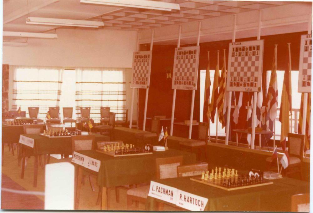 Primer Torneig Internacional d'Escacs Costa Brava a l'Hotel Piscina de Port Salvi de Sant Feliu de Guíxols el 1973