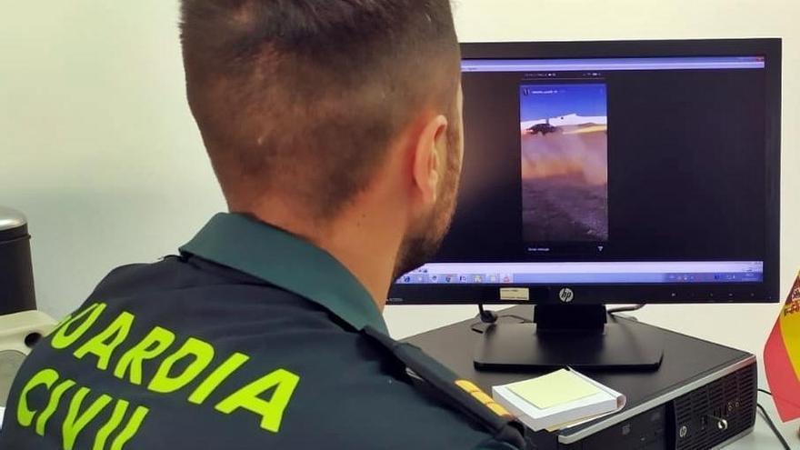 Investigado un vecino de Cheles por conducción temeraria que difundió por redes sociales
