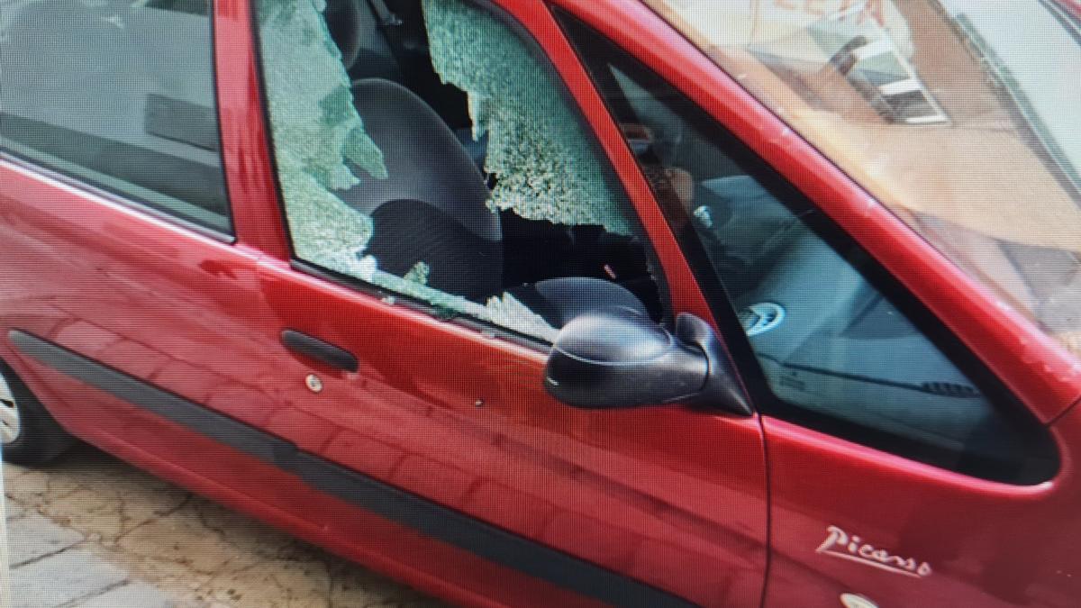 Uno de los vehículos en los que ha actuado el sospechosos
