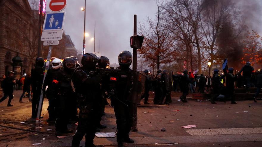 Altercados en París en la marcha contra la reforma de las pensiones