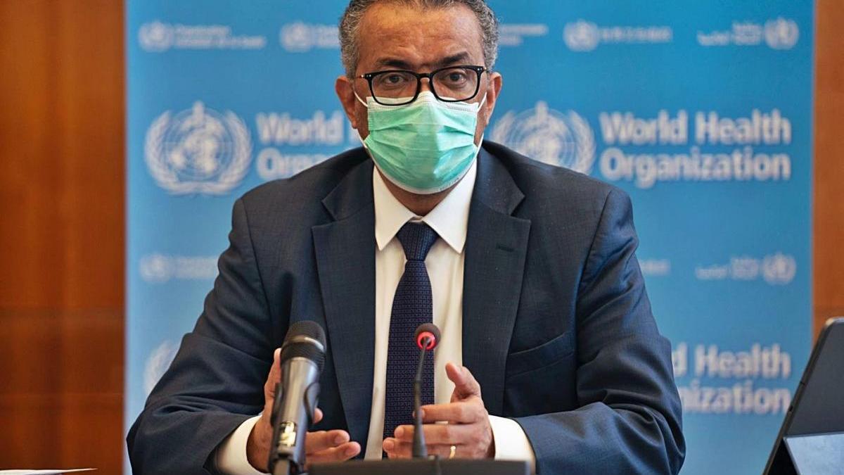 El director general de l'OMS, Tedros Adhanom Ghebreyesus