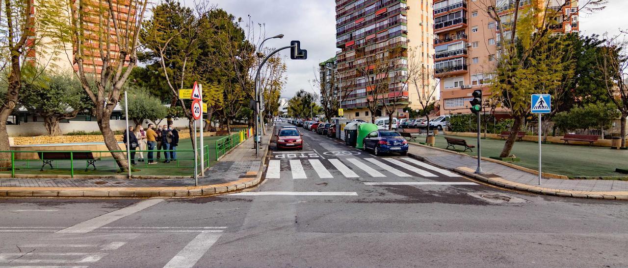 La avenida de Venezuela de Benidorm.