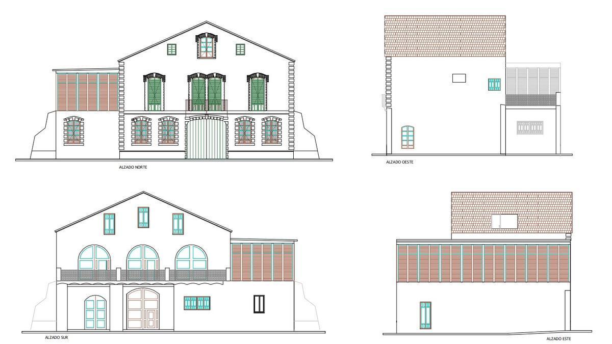 Los planos del proyecto