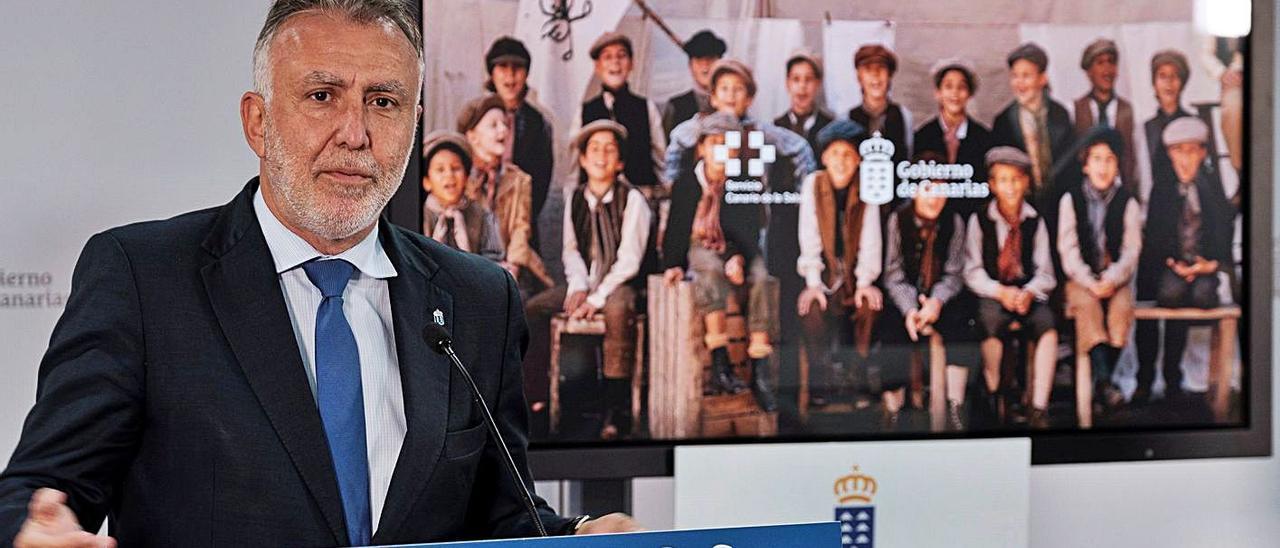 El presidente del Gobierno canario, Ángel Víctor Torres.