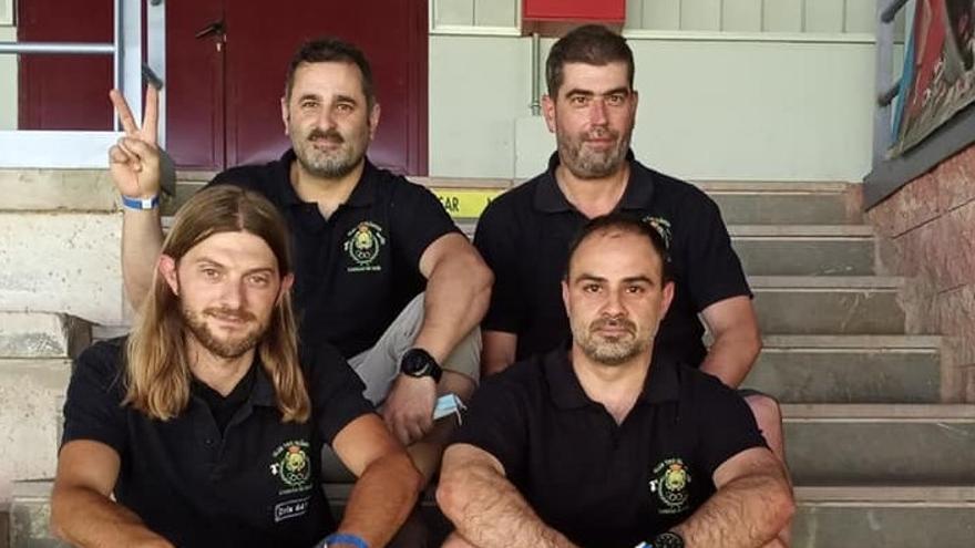 El equipo autonómico de Asturias, campeón de España de tiro olímpico F-Class 50+100, en categoría Open, en Granada