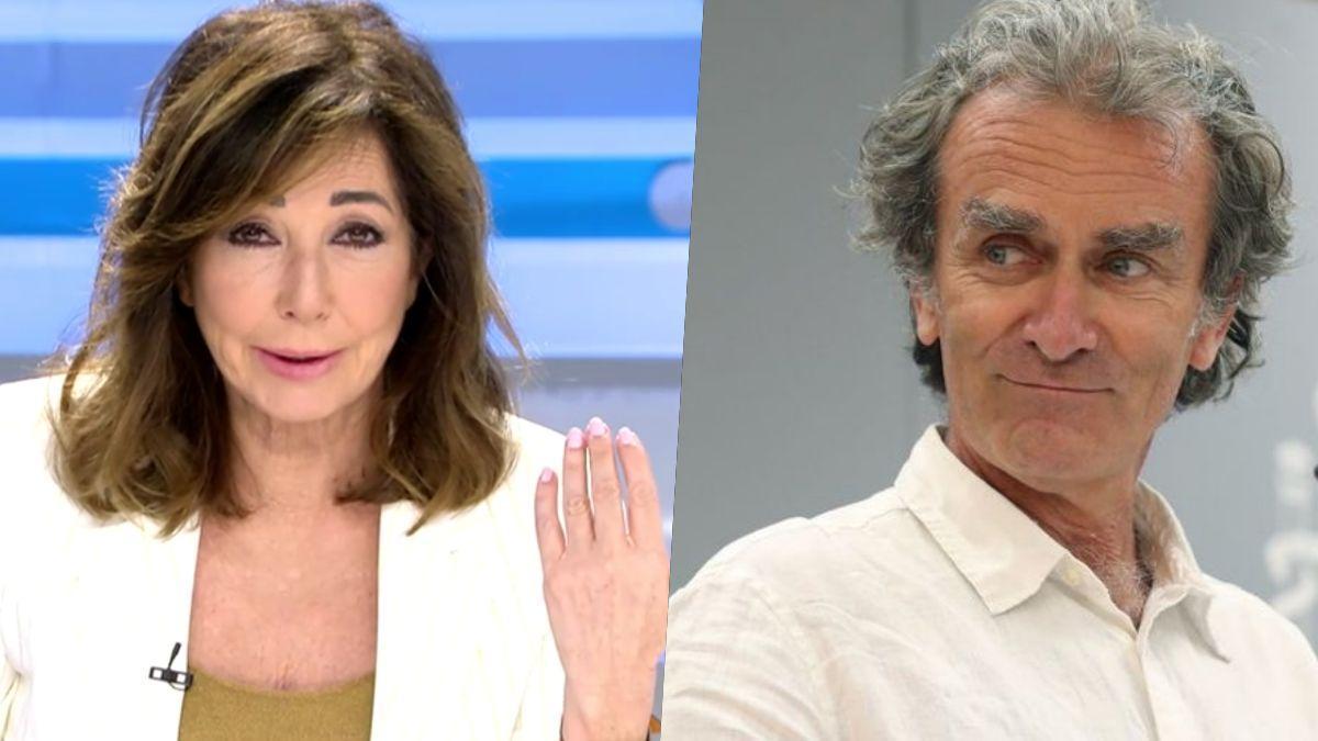 Ana Rosa Quintana y Fernando Simón.