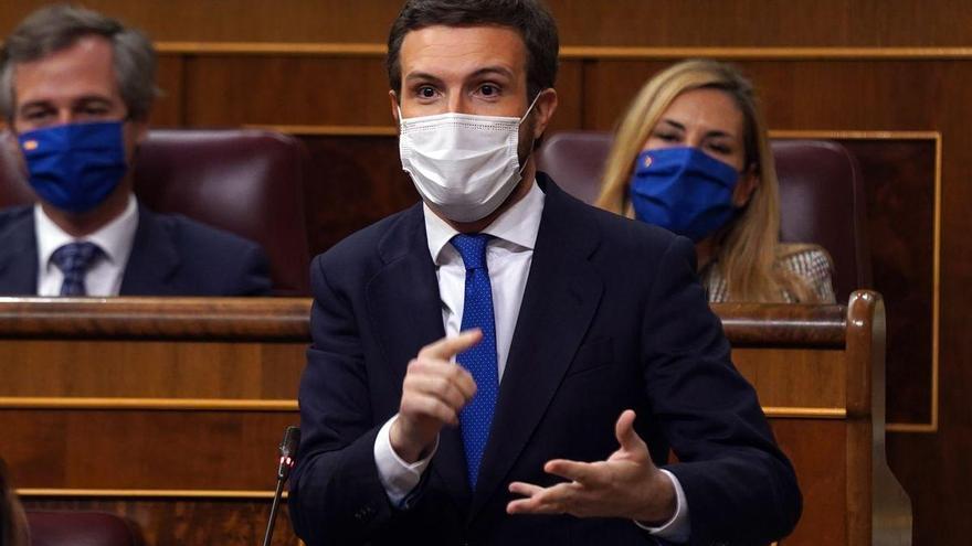 """Casado: """"España se va a la ruina y el Gobierno lo único que hace es pelearse entre sí"""""""