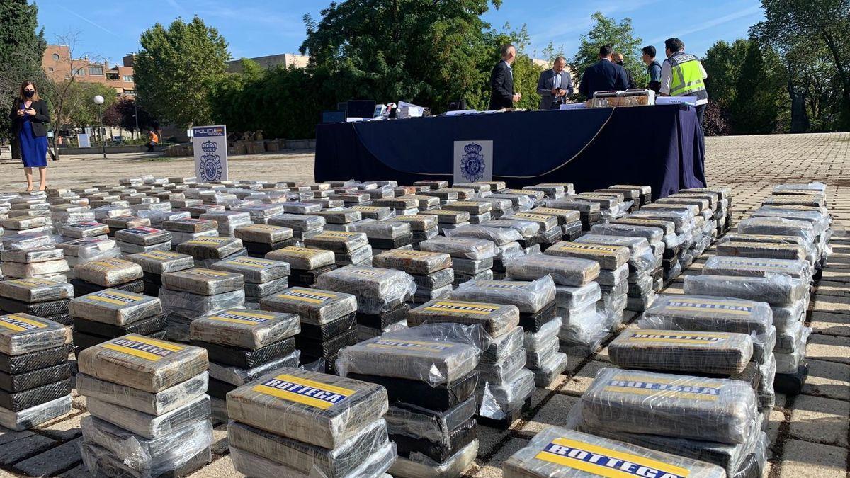 La cocaïna comissada en l'operació internacional de la Policia Nacional i sis policies europeees més